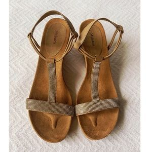 Style & Co. Mulan Tan Embellished Evening Sandals